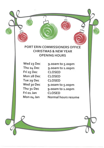 Christmas Office Opening Hours